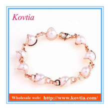 Nouveau bracelet à perles à gros bon marché personnalisé pour fille