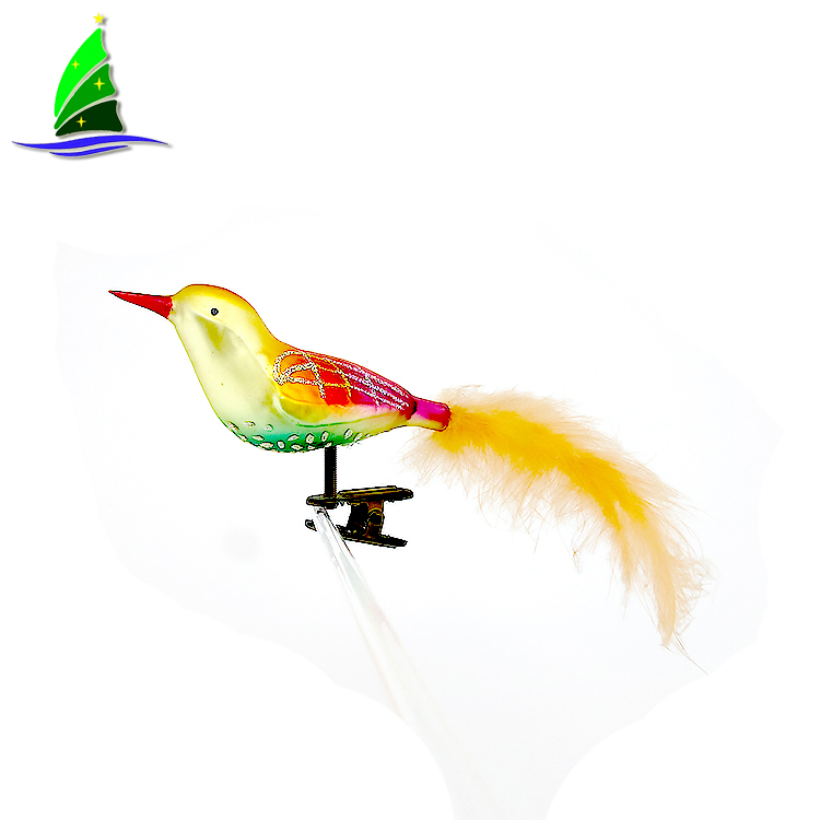 Glass Hanging Bird Decoration