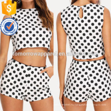 Горошек без рукавов топ и шорты комплект Производство Оптовая продажа женской одежды (TA4103SS)