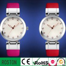 Japão quartzo movimento resistente à água moda lady watch