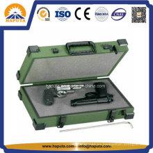 Caja de arma pistola doble de aluminio con esquinas de Metal