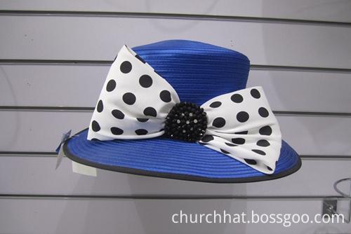 Chiffon Dot Fabric Hats