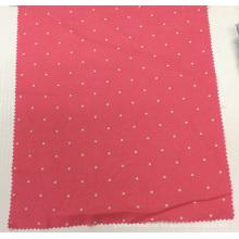 Polka de lino/viscosa impreso a tela de prendas de vestir, Textiles para el hogar