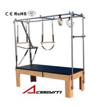 Пилатес оборудование стол в виде трапеции с 3 комплекта пружин