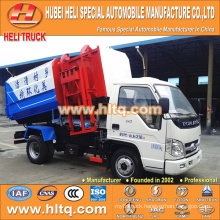 Forland 4M3 small hydraulic lifting garbage truck 98hp for exported to Africa