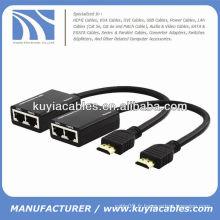 UTP HDMI Extender via le câble Cat5 / cat6 jusqu'à 100 pieds (30 mètres)