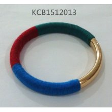 Colorful Fabric Bracelet with Metal Wholesale