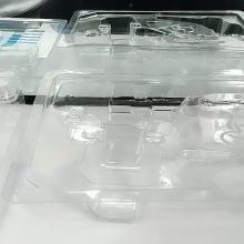 Boîte à clapet jetable en plastique transparent promotionnel personnalisé