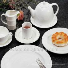 """8"""" 10"""" hotel y restaurante blanco plato de banquete de porcelana, platos de porcelana, todos los días platos de porcelana de uso"""