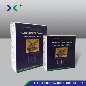 Albendazol Suspension 2.5% Animal