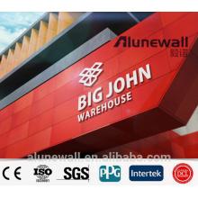 Panneau composé en aluminium de couleur différente de largeur de 2M pour le panneau d'affichage de mur de façade de Signage