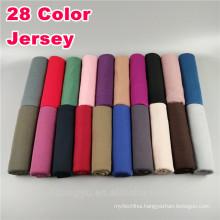 Fashion Whosale basics plain solid color dubai wholesale Muslim thin stretch jersey scarf hijab