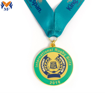 Médaille de club de rugby club international de design de luxe