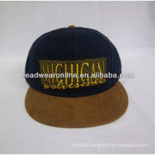 New HYPE Adjustable Snap Back Flat Brim Cap Hat with suede visor