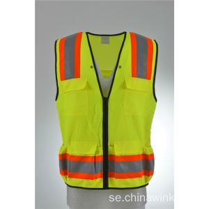Reflekterande High Shine Hi Viz Surveyor Vest