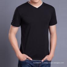 Chine fabricant en gros hommes noir T Shirt Fashion T Shirt Design