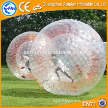 Big size red ropes colorful inflatable hamster ball / zorb ball for bowling