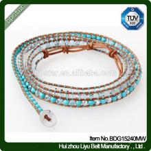 Fashion Girl Mixed Crystone Skinny Beaded Bracelet / Mulher Magro