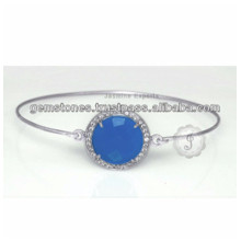 Wholesale Supplier For Chalcedony Gemstone Lovely Charm Bangle For Women