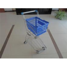Rod Type Plastic Shopping Basket Trolley for Sale (YRD-J4)