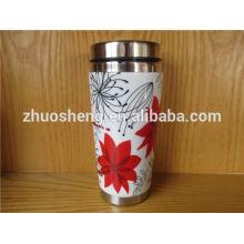 new design customized bulk buy from china stainless steel ceramic mug, color changing mug