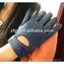 Guantes de cuero azules baratos al por mayor del invierno para las señoras