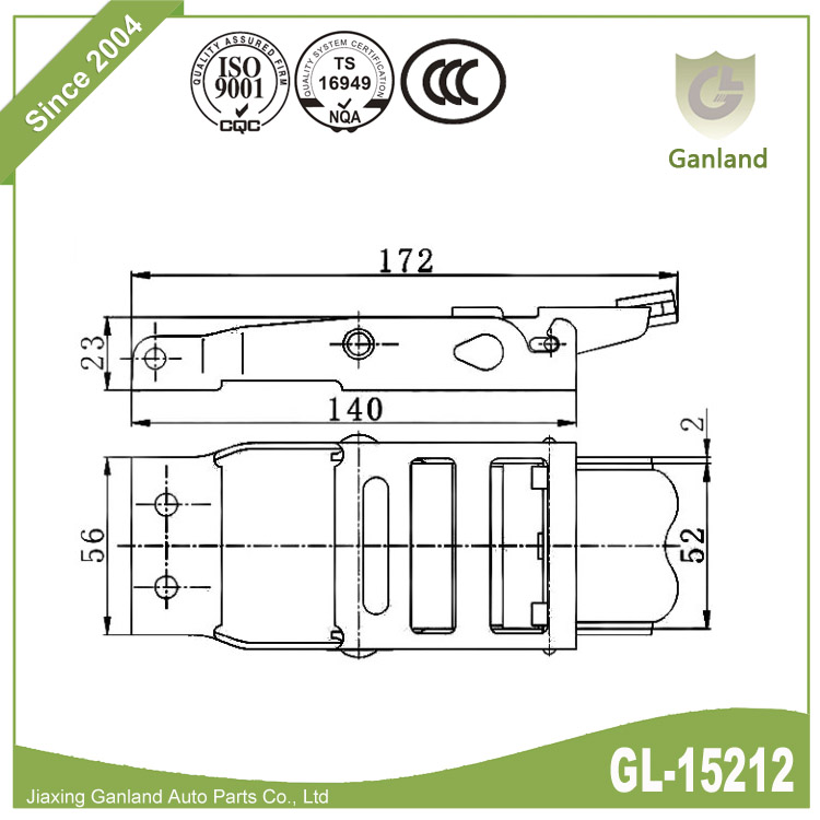 Side Curtain Buckle GL-15212