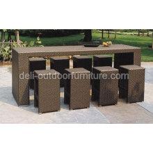 Outdoor PE Wicker Modern Rattan Bar Furniture Sets