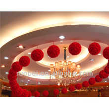 Soft and high quality artificial silk flower ball for party decoration