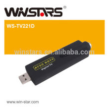 HOT USB 2.0 mini ATSC Digital HDTV de ar, USB ATSC TV Stick, suporta televisão a cabo digital