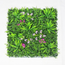 Decorative DIY artificial green wall installation hedge with foliage
