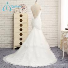 Applique couvert en dentelle à la robe Sequined Beading Wedding Dress