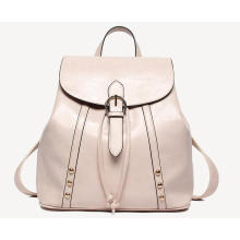 New Stylish Solid Color Women PU Leather Backpack
