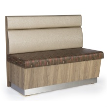 PULeather Solid Wood High Back Fast Food Booth