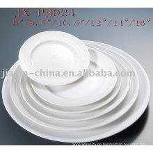 weißer Porzellan runden Teller