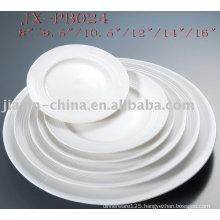 white porcelain round dinner plate