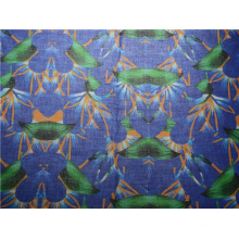 Custom High Quality Printed Ramie Cotton Fabric (DSC-4170)