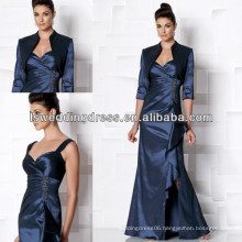 HM2016 Open front with strap skirt taffeta mother dress with long sleeve jacket