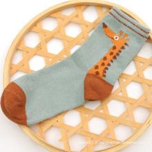 2016 garçons mignons vente chaude coton chaussettes avec motif girafe