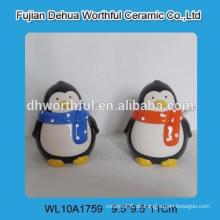 Lovely Pinguin Form Keramik Würze Topf mit Löffel