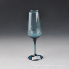 Mouth Blown Solid Color Blue Champagne Glass