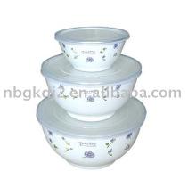 3 PCS Porcelain Enamel Storage Soup Bowl
