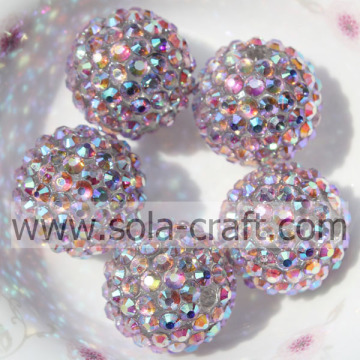 Resina Multicolor rosa strass 18 * 20mm perline perline solido agate