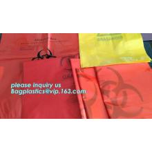 Extra large capacity biohazard drawtape trash bag interleaf coreless roll plastic garbage bag for hospital use, Industrial waste