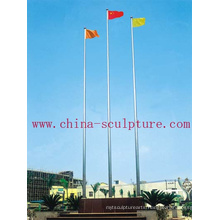 Stainless Steel Flagpole with banner