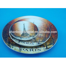 Home decoration printed porcelain plate, beautiful plate