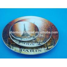 Home decoração impresso placa de porcelana, placa bonita
