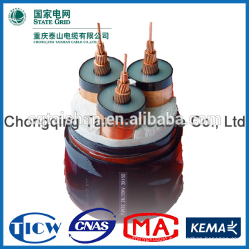 35kV XLPE Insulated 3 *300sqmm Power Cable fire resistant uv resistant cable