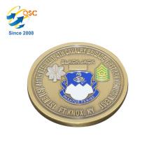 Wholesale 3D Antique Custom Flat Edge High Quality Brass Challenge Decorative Coins
