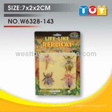 TPR animal de caucho cuatro estilos insecto conjunto surtido para niño